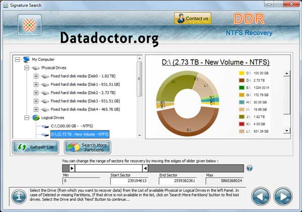 Quickly download NTFS Partition Recovery tool