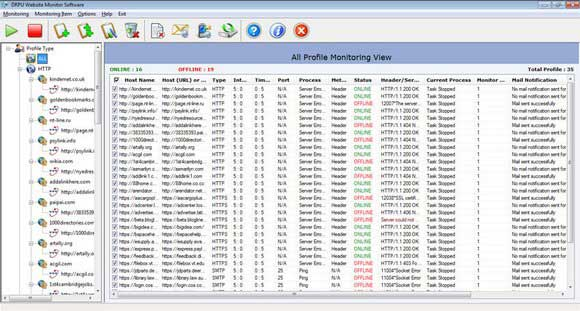 Web Server Uptime Monitoring