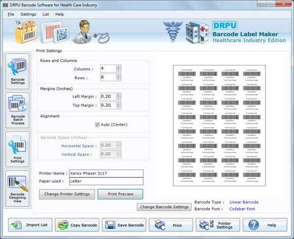 Barcode Printer for Hospitals screenshot