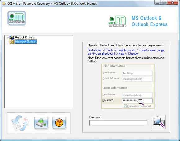 Recover Passwords For PST Files screenshot