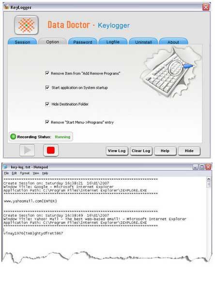 Keyboard Logging Software screenshot