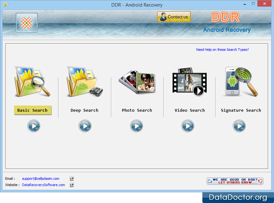 Android recovery software recovers files photos data