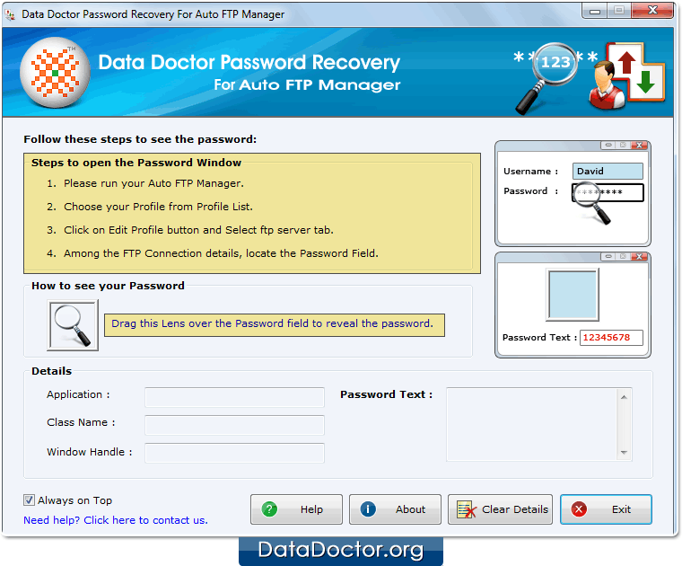 Password Recovery For Auto FTP Manager – How to recover