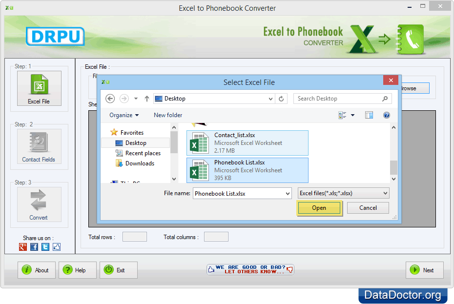 excel to phonebook converter converts entire contacts from excel to