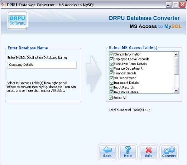 Download MS Access to MySQL server database converter software ...