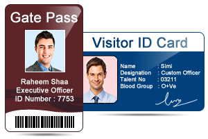 visitors id gate pass maker software design id cards and gate pass